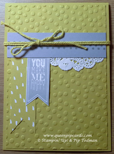 Stampin Up Last Chance Sale-a-bration - Queen Pip Cards