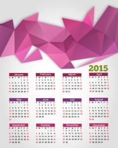 Abstract-Background-Calendar-2015-Vector