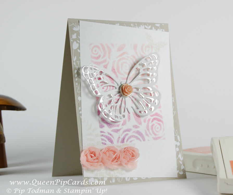 Butterfly and Rose Background