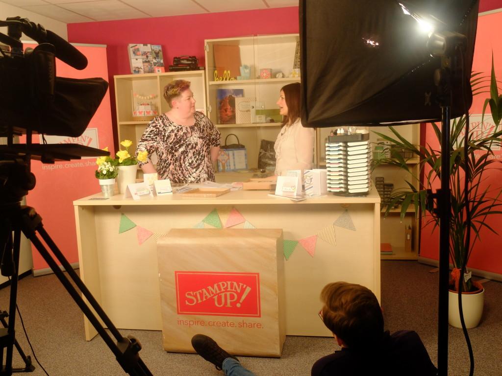 Being filmed!