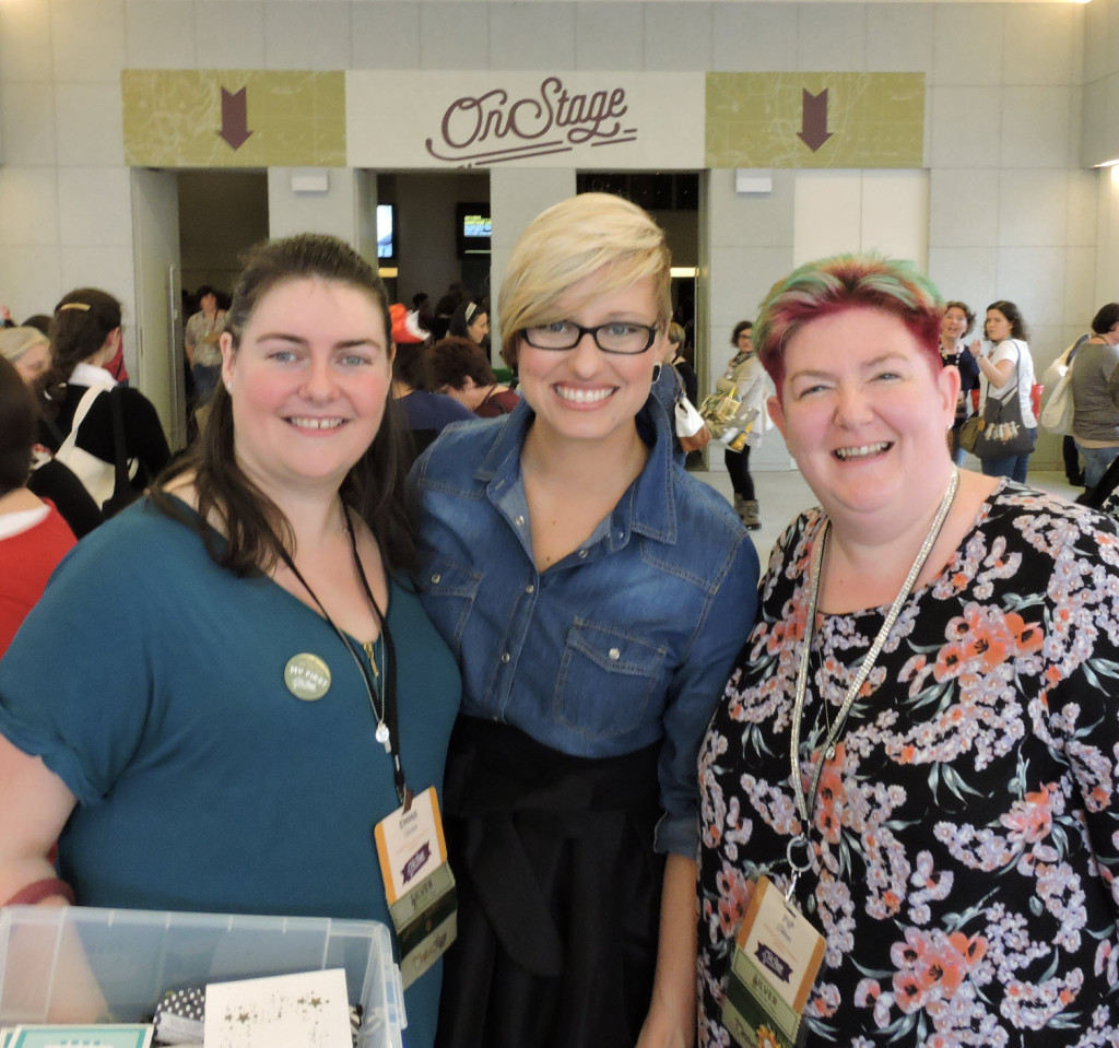 L-R is Emma Crockett, Sara Douglas (Interim CEO of Stampin' Up!) and me!