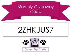 Monthly Giveaway Code May