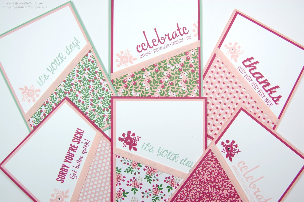 Simple Stamping Cards spread