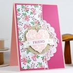 Craft Retreat Friend Heart Card