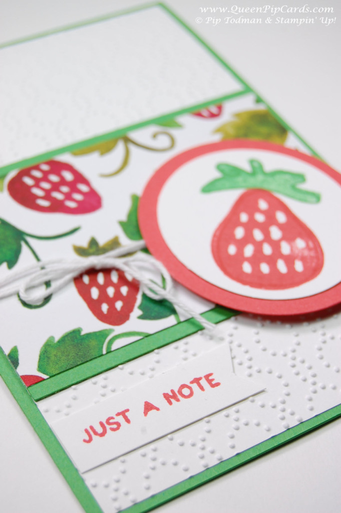 Stamping with Fresh Fruit Stand