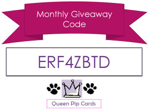 Monthly Giveaway Code