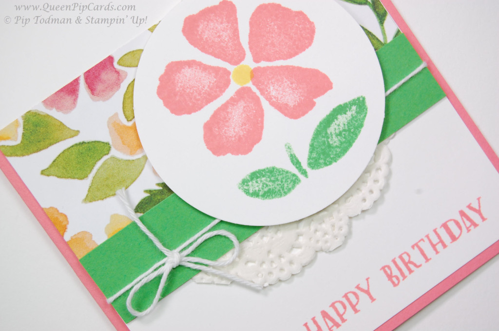 Stamping with fresh fruit flowers