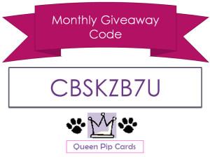Monthly Giveaway Code August CBSKZB7U