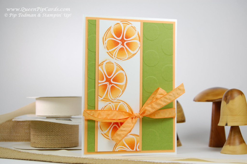 Stamping with Fresh Fruit Resist Embossing