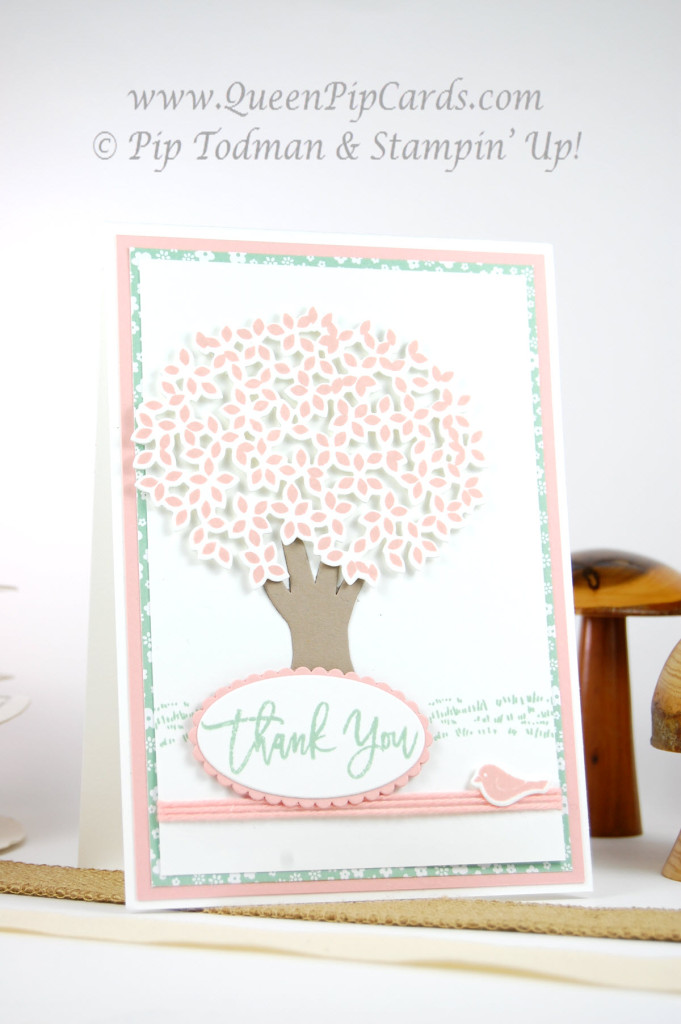 Stampin' Up! Thoughtful Branches Pink Blossom Tree Lrge
