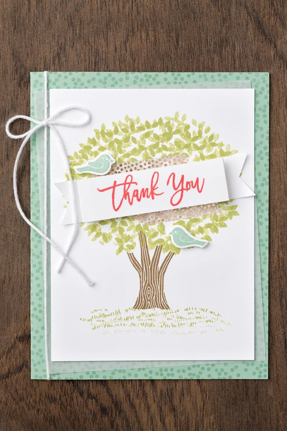 4 card ideas with Thoughtful Branches 4