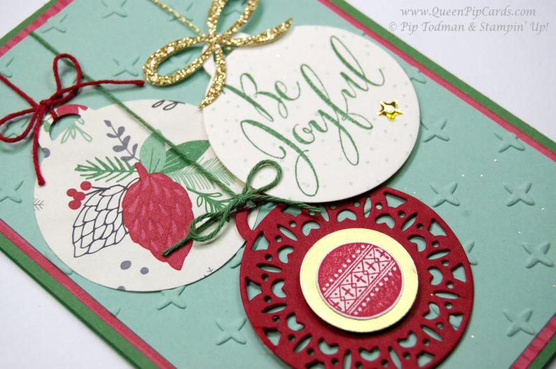 A Pretty Merry Christmas Card Idea - Queen Pip Cards