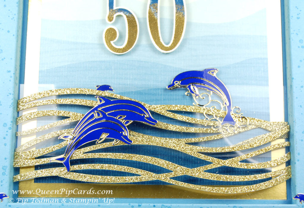 By the Shore 50th Birthday Card front close up