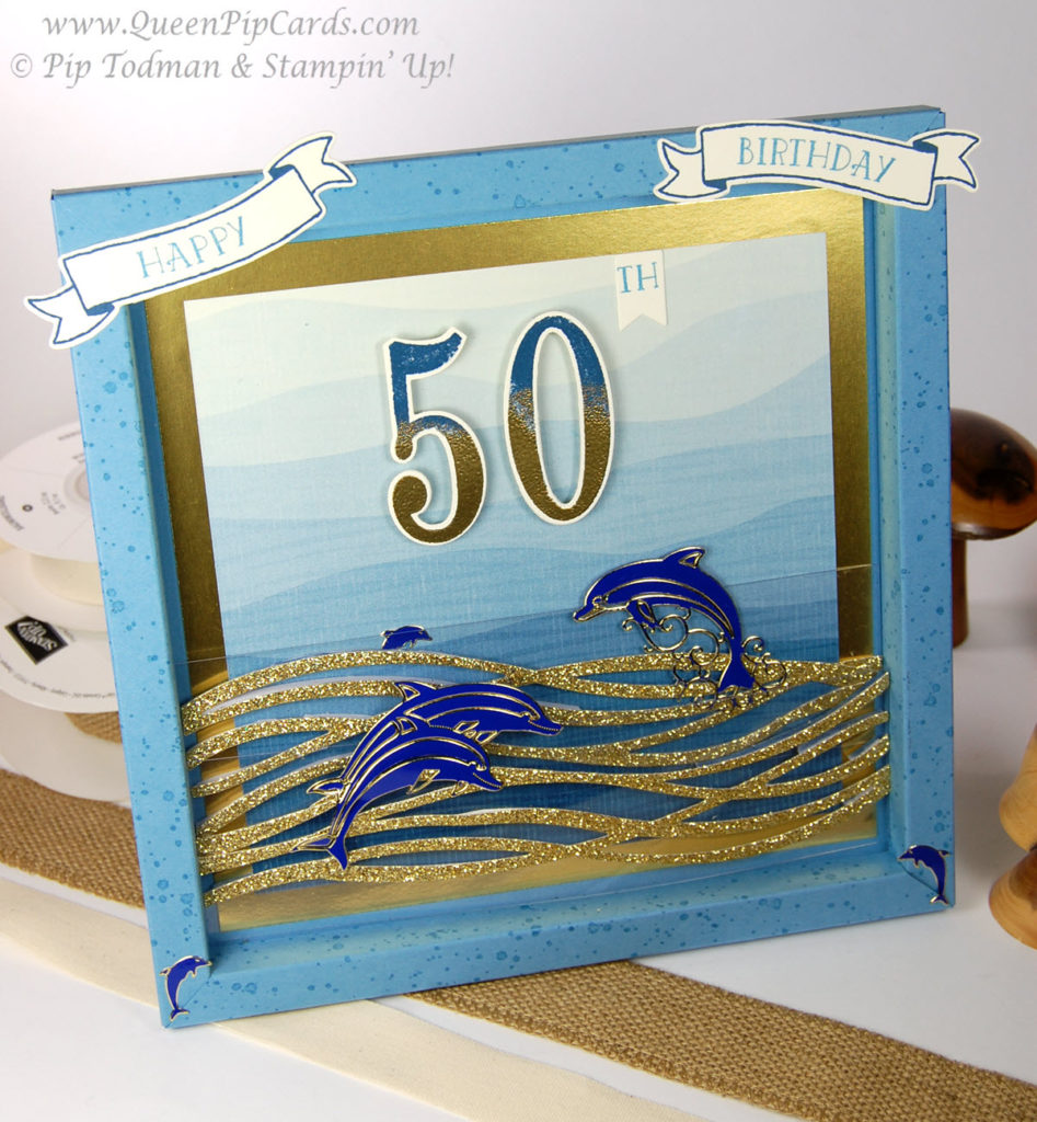 By the Shore 50th Birthday Card Large front