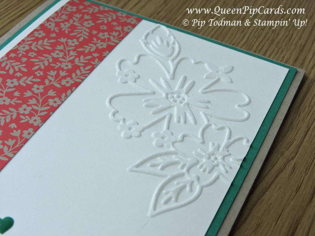 Love and Affection Thank You Card Embossing