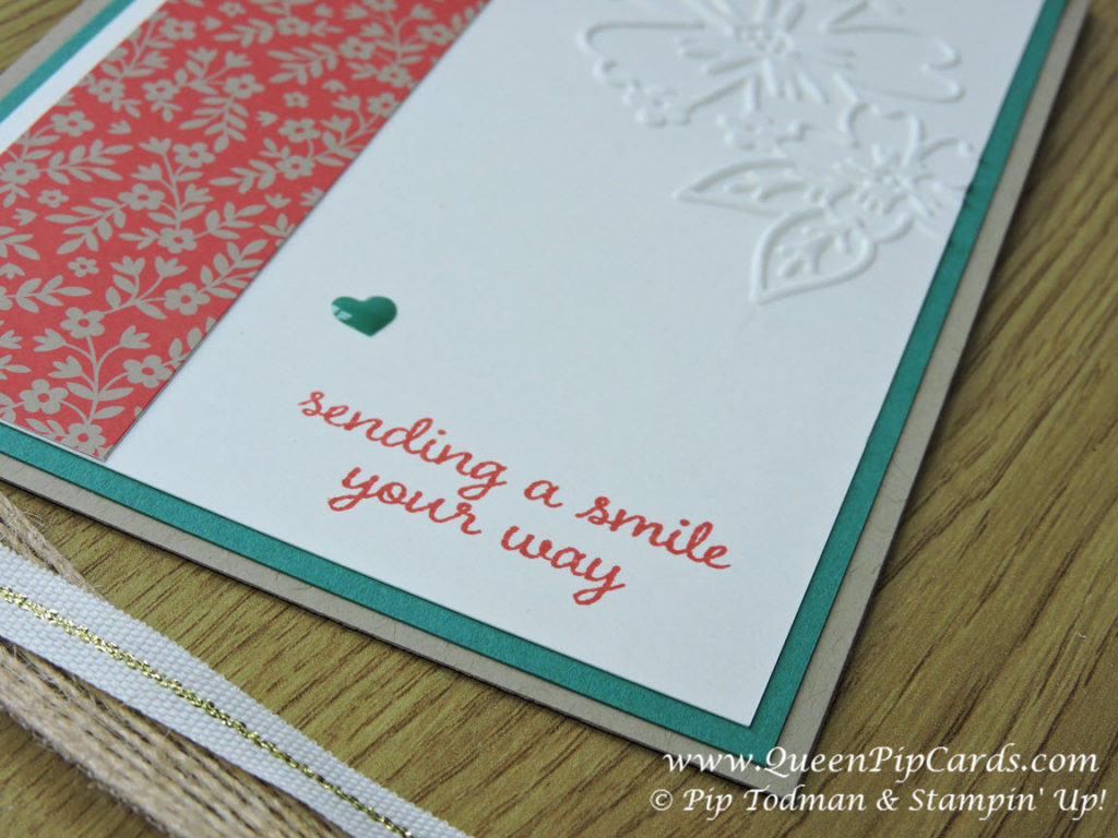Love and Affection Thank You Card close up