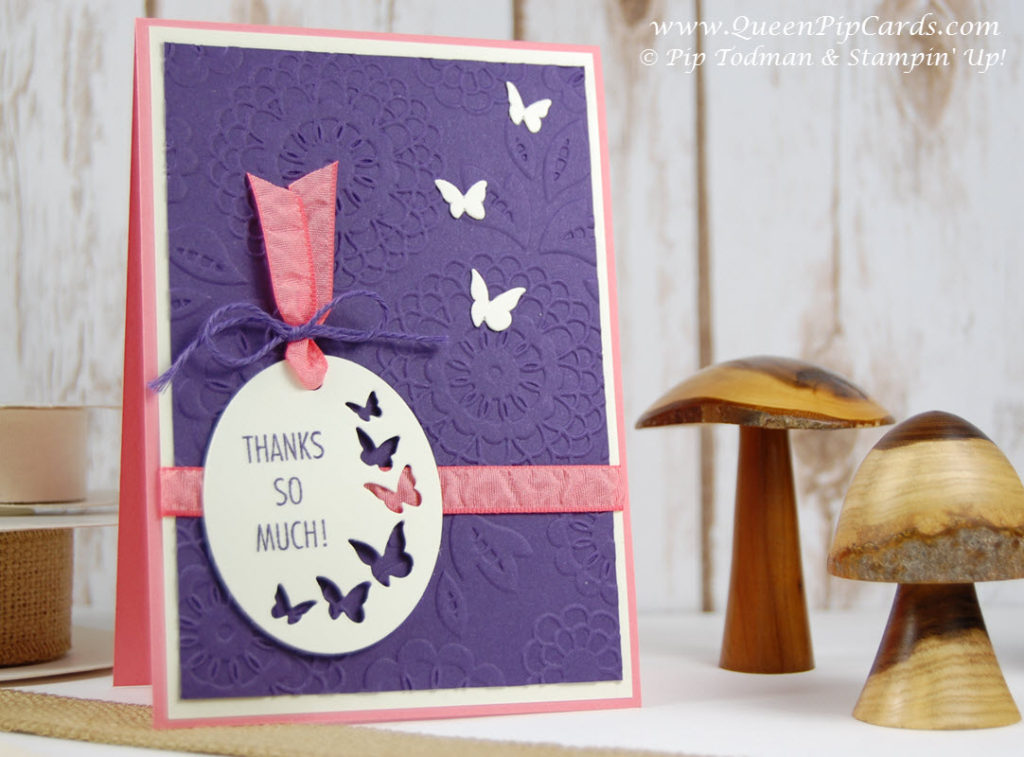 2 pretty card ideas Eggplant Large