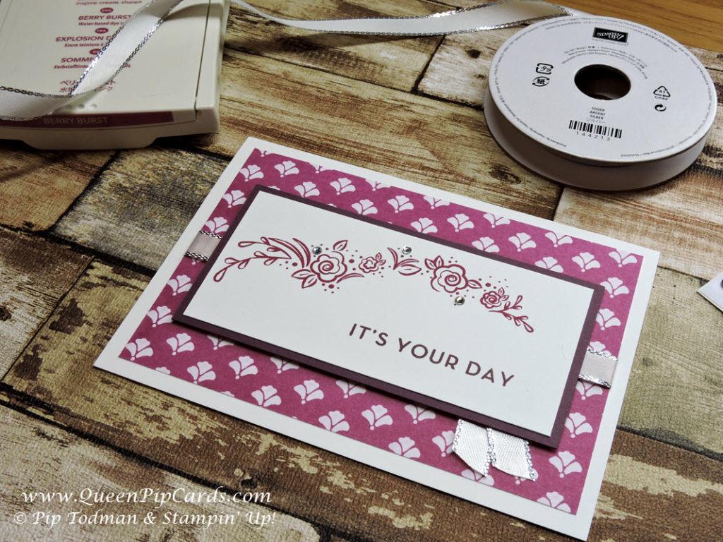 Big on Birthdays Floral Card Idea