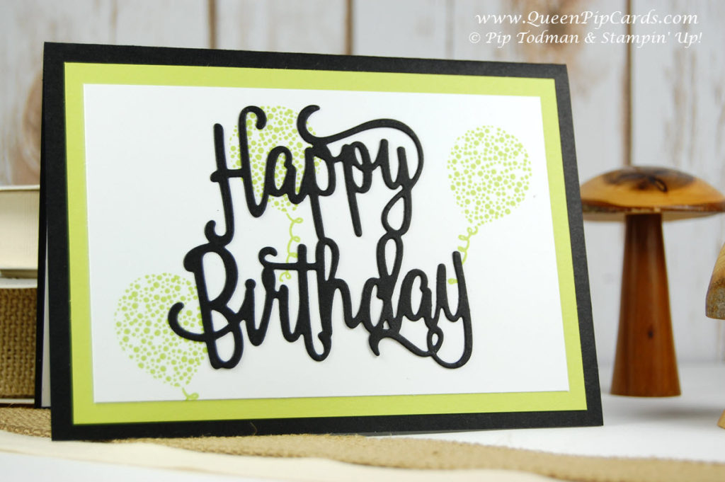 Happy Birthday Thinlit Die