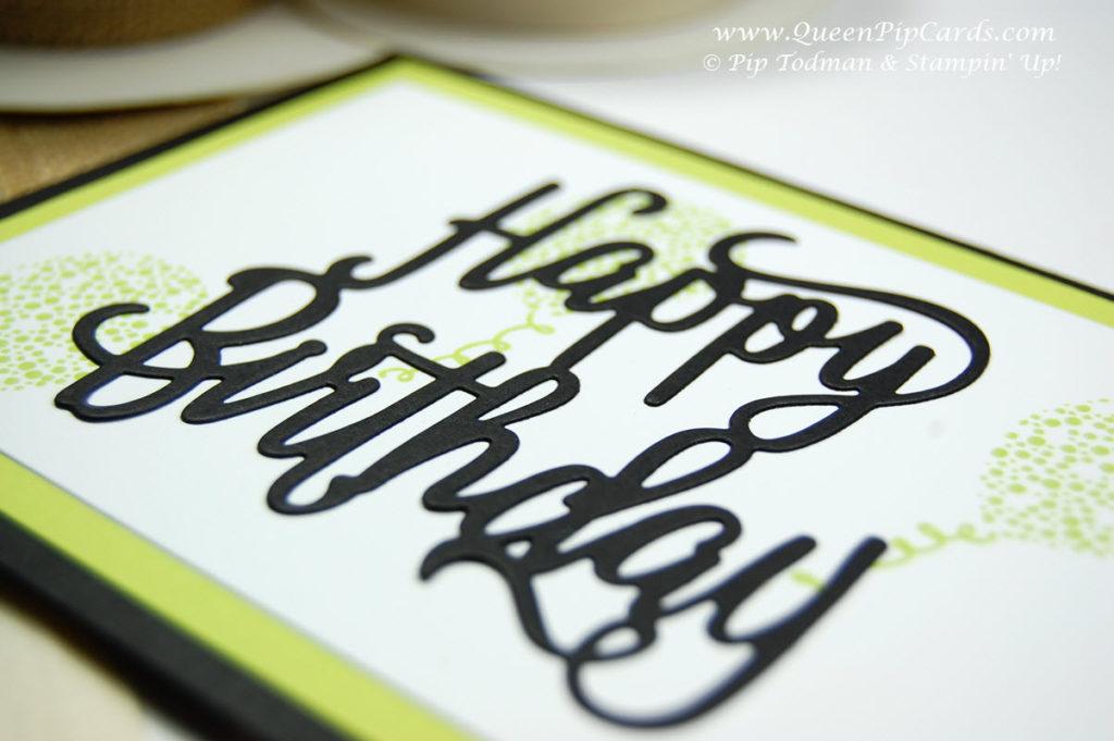 Happy Birthday Thinlit Die close up