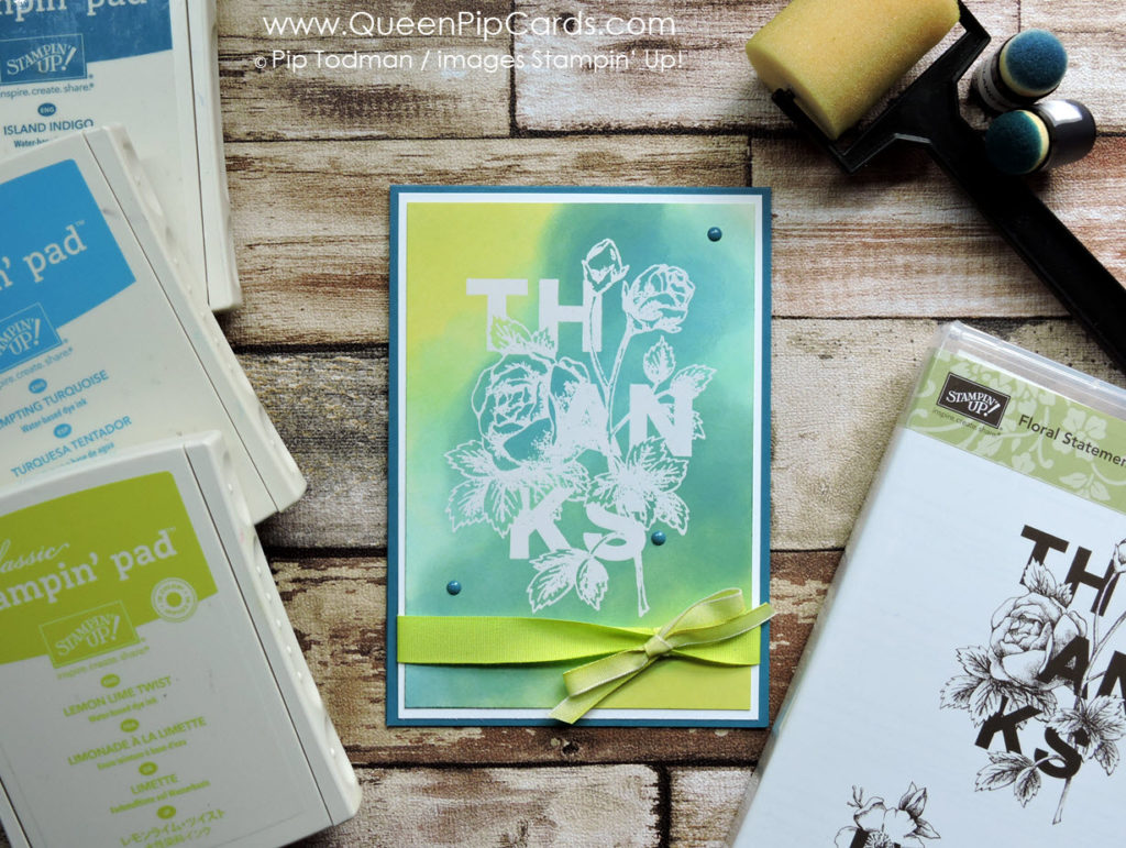 Glossy Card and Floral Statements Blue L