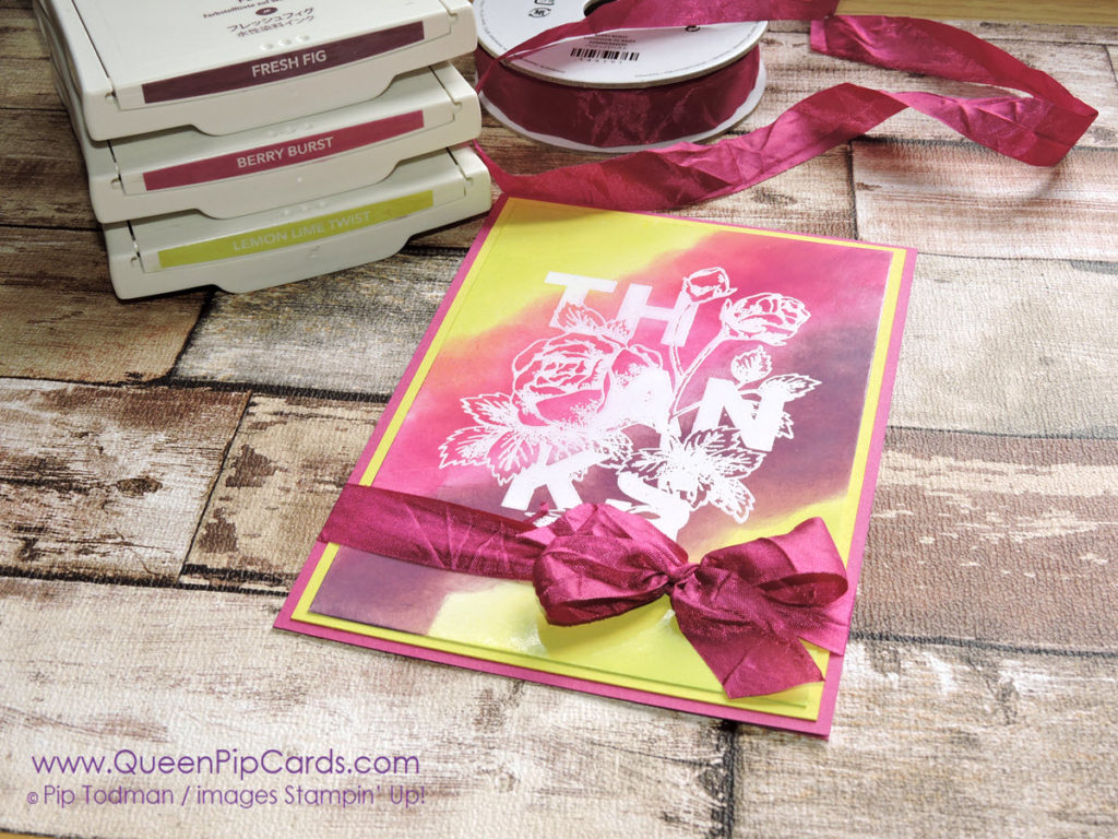 Glossy Card and Floral Statements Pink C