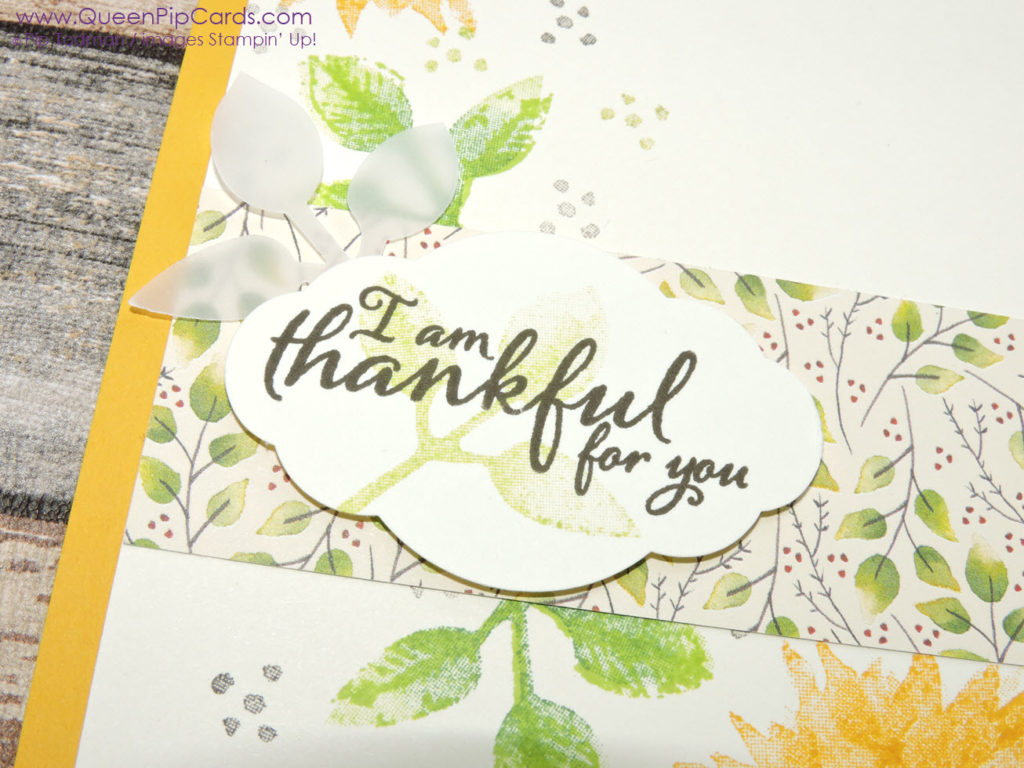 Sunny Sunflower Card with Painted Harvest C