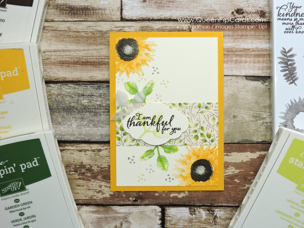 Sunny Sunflower Card with Painted Harvest L