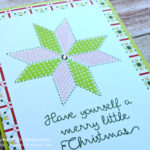 Quick And Simple Card Idea in Lemon Lime Twist & Powder Pink with Christmas Quilt by Stampin' Up! Pip Todman Queen Pip Cards UK Stampin' Up! Demonstrator www.queenpipcards.com fb.me/QueenPipCards #queenpipcards #stampinup #papercraft #inspiringyourcreativity