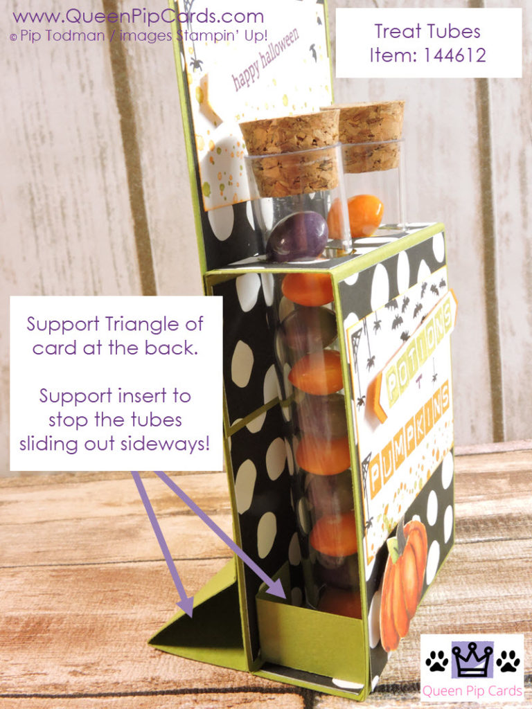 Half Term Craft Projects with the Treat Tubes. This holder is easy to make. Pip Todman Queen Pip Cards UK Stampin' Up! Demonstrator www.queenpipcards.com fb.me/QueenPipCards #queenpipcards #stampinup #papercraft #inspiringyourcreativity
