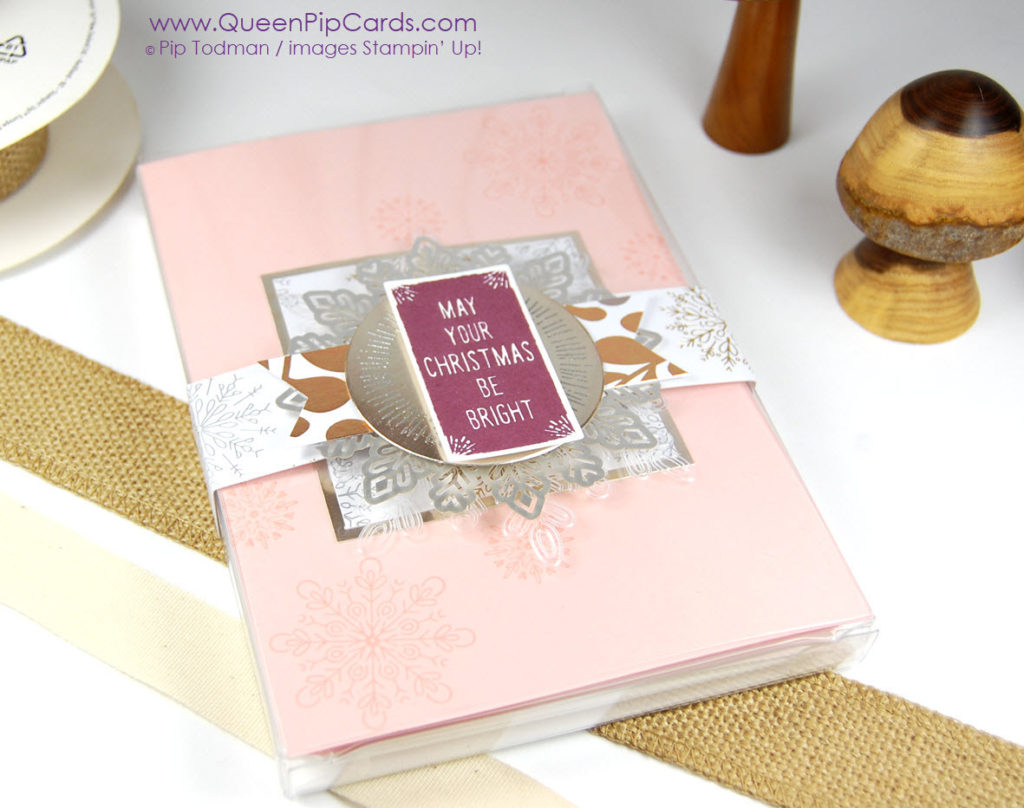 A Perfect Gift Box made easy with Acetate Boxes from Stampin' Up! and the glorious Year of Cheer Speciality Designer Series Paper! Pip Todman Crafty Coach & Stampin' Up! Demonstrator in the UK Queen Pip Cards www.queenpipcards.com Facebook: fb.me/QueenPipCards #queenpipcards #stampinup #papercraft #inspiringyourcreativity