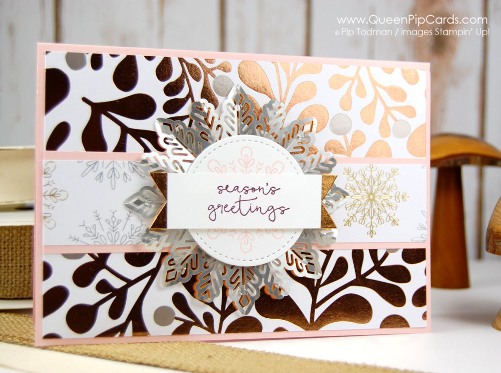 Alaska Achievers Global Blog Hop with Year of Cheer Suite! Glorious foiling and snowflakes! Pip Todman Crafty Coach & Stampin' Up! Demonstrator in the UK Queen Pip Cards www.queenpipcards.com Facebook: fb.me/QueenPipCards #queenpipcards #stampinup #papercraft #inspiringyourcreativity