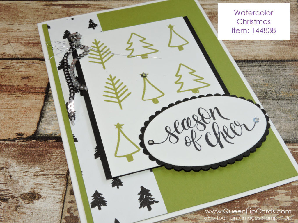 Watercolor Christmas is so versatile. Those little trees are so cute! Pip Todman Crafty Coach & Stampin' Up! Demonstrator in the UK Queen Pip Cards www.queenpipcards.com Facebook: fb.me/QueenPipCards #queenpipcards #stampinup #papercraft #inspiringyourcreativity
