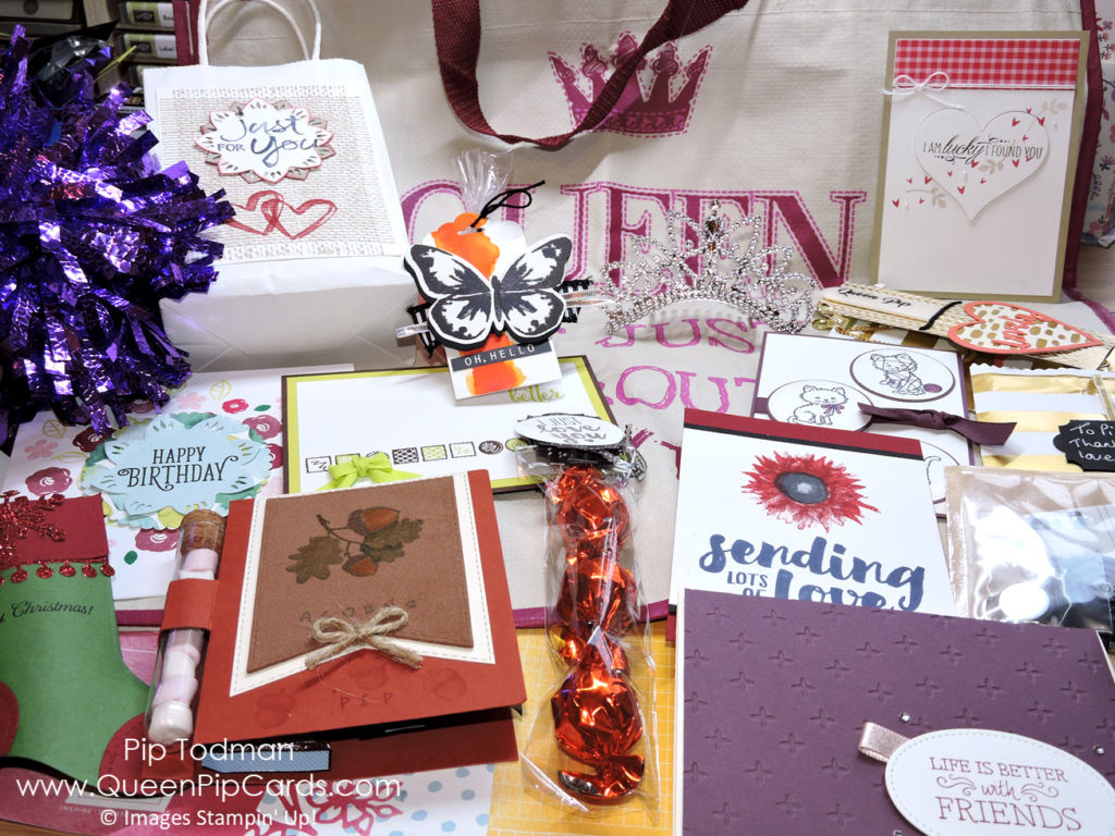 OnStage 2017 was amazing - all my pressies and swaps! Pip Todman Crafty Coach & Stampin' Up! Demonstrator in the UK Queen Pip Cards www.queenpipcards.com Facebook: fb.me/QueenPipCards #queenpipcards #stampinup #papercraft #inspiringyourcreativity
