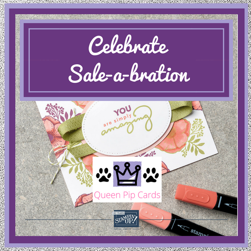 Your Sale-a-bration Starts Today with the launch of the new Spring / Summer catalogue and Sale-a-bration Brochure! Pip Todman Crafty Coach & Stampin' Up! Demonstrator in the UK Queen Pip Cards www.queenpipcards.com Facebook: fb.me/QueenPipCards #queenpipcards #stampinup #papercraft #inspiringyourcreativity