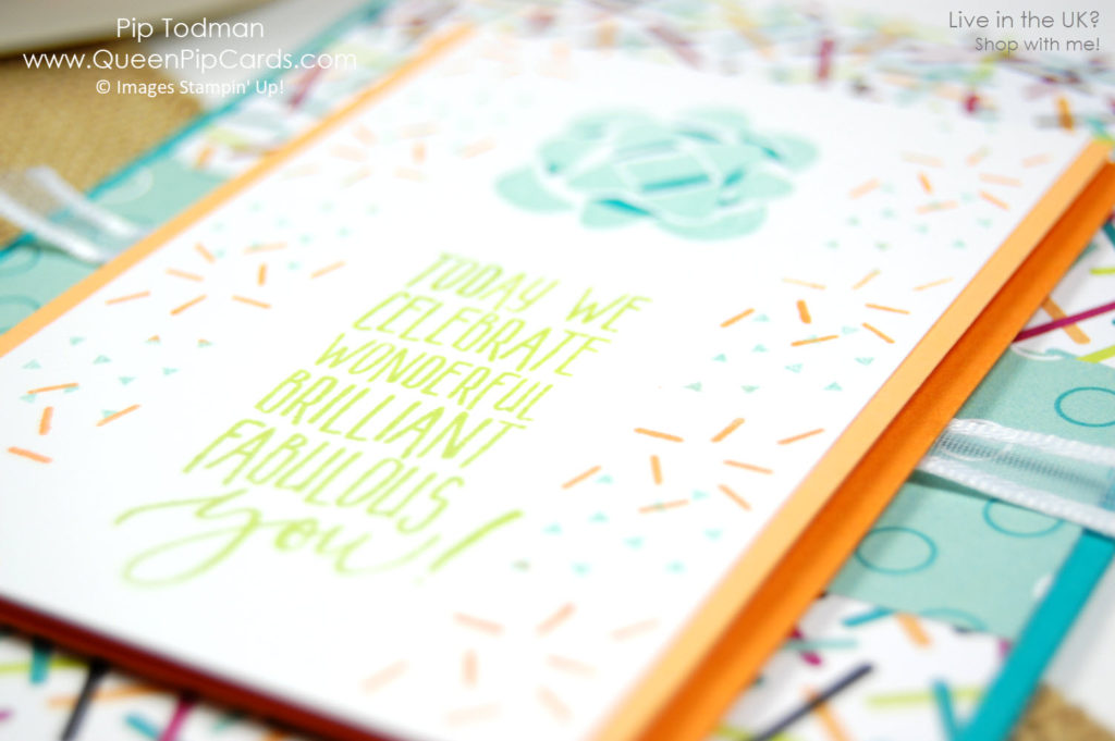 Picture Perfect Birthday Sprinkles Card Idea inspired by birthday cup cakes memories! Pip Todman Crafty Coach & Stampin' Up! Demonstrator in the UK Queen Pip Cards www.queenpipcards.com Facebook: fb.me/QueenPipCards #queenpipcards #stampinup #papercraft #inspiringyourcreativity