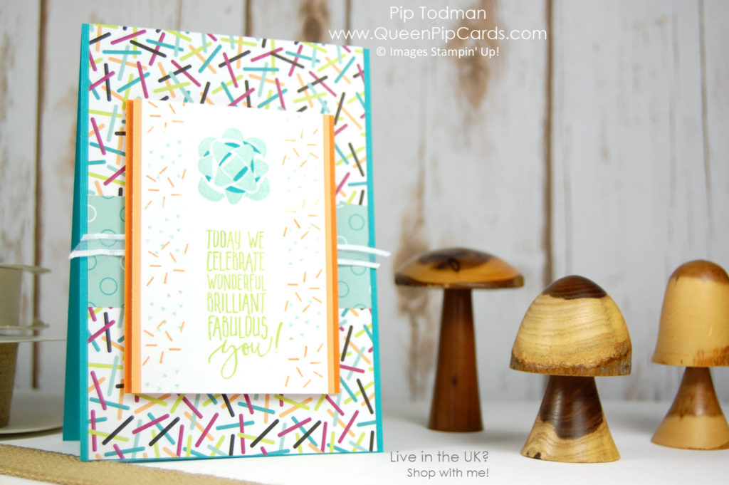 Picture Perfect Birthday Sprinkles Card Idea! Sprinkles are fun anytime! Pip Todman Crafty Coach & Stampin' Up! Demonstrator in the UK Queen Pip Cards www.queenpipcards.com Facebook: fb.me/QueenPipCards #queenpipcards #stampinup #papercraft #inspiringyourcreativity