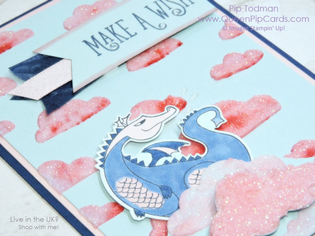 Magical Day Aminals for the RemARKably Ink Big Blog Tour. Join us as we explore all the wonderful animals and creatures that Stampin' Up! has to offer! Stampin' Up! Shimmery White Embossing Paste with Brushos and Magical Day stamps feature in this card. Pip Todman Crafty Coach & Stampin' Up! Top UK Demonstrator Queen Pip Cards www.queenpipcards.com Facebook: fb.me/QueenPipCards #queenpipcards #stampinup #papercraft #inspiringyourcreativity