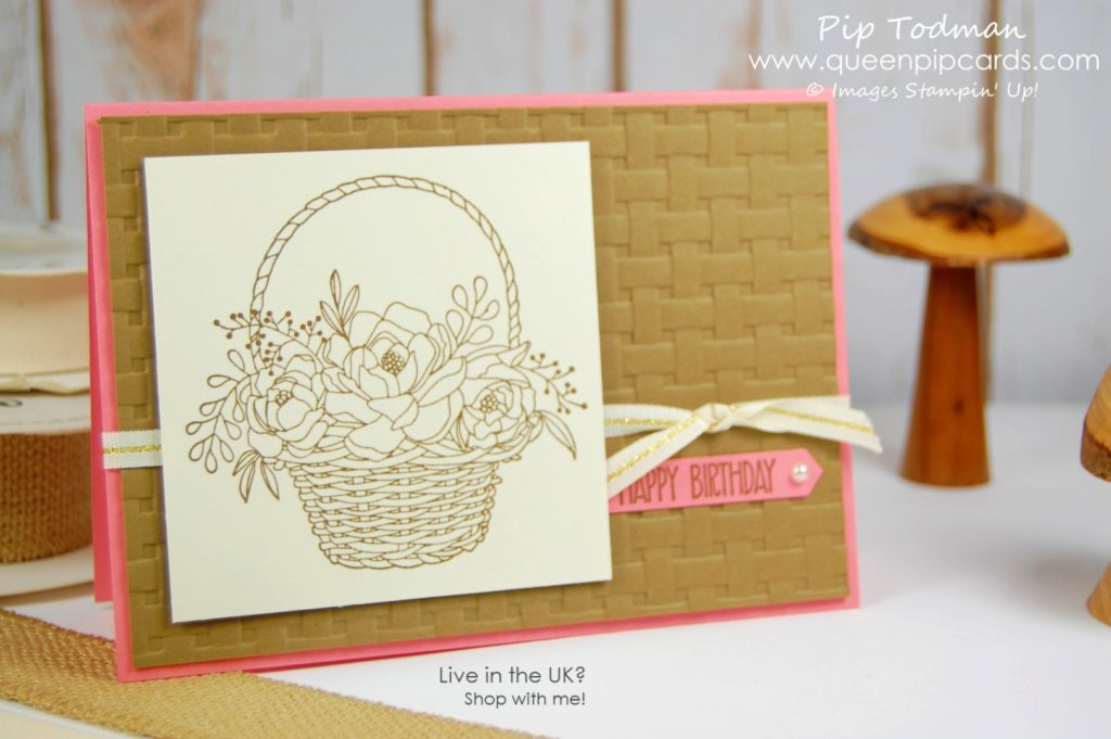 Introducing the Basket Weave Embossing Folder With the Remarkable Ink Big Blog Hop Last Call for Sale-a-bration 2018 Saleabration 2018 Pip Todman Crafty Coach & Stampin' Up! Top UK Demonstrator Queen Pip Cards www.queenpipcards.com Facebook: fb.me/QueenPipCards #queenpipcards #stampinup #papercraft #inspiringyourcreativity #Saleabration2018