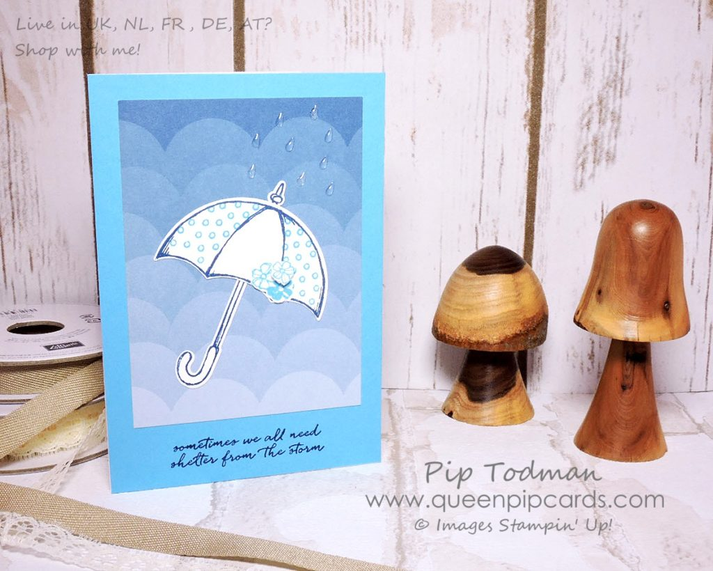 Weather Together April Showers with Stampin' Creative. This month's theme is April Showers and I wanted to use it to convey how much this design team means to me. We can weather anything together. That's what has inspired my designs this month. Pip Todman Crafty Coach & Stampin' Up! Top UK Demonstrator Queen Pip Cards www.queenpipcards.com Facebook: fb.me/QueenPipCards #queenpipcards #stampinup #papercraft #inspiringyourcreativity
