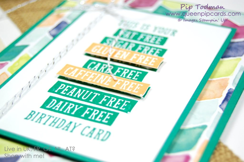 Birthday Wit with Emerald Envy Love this stamp set and adding a pop of Peekaboo Peach really adds to the wow of the sentiment. Spring / Summer 2018 Pip Todman Crafty Coach & Stampin' Up! Top UK Demonstrator Queen Pip Cards www.queenpipcards.com Facebook: fb.me/QueenPipCards #queenpipcards #stampinup #papercraft #inspiringyourcreativity