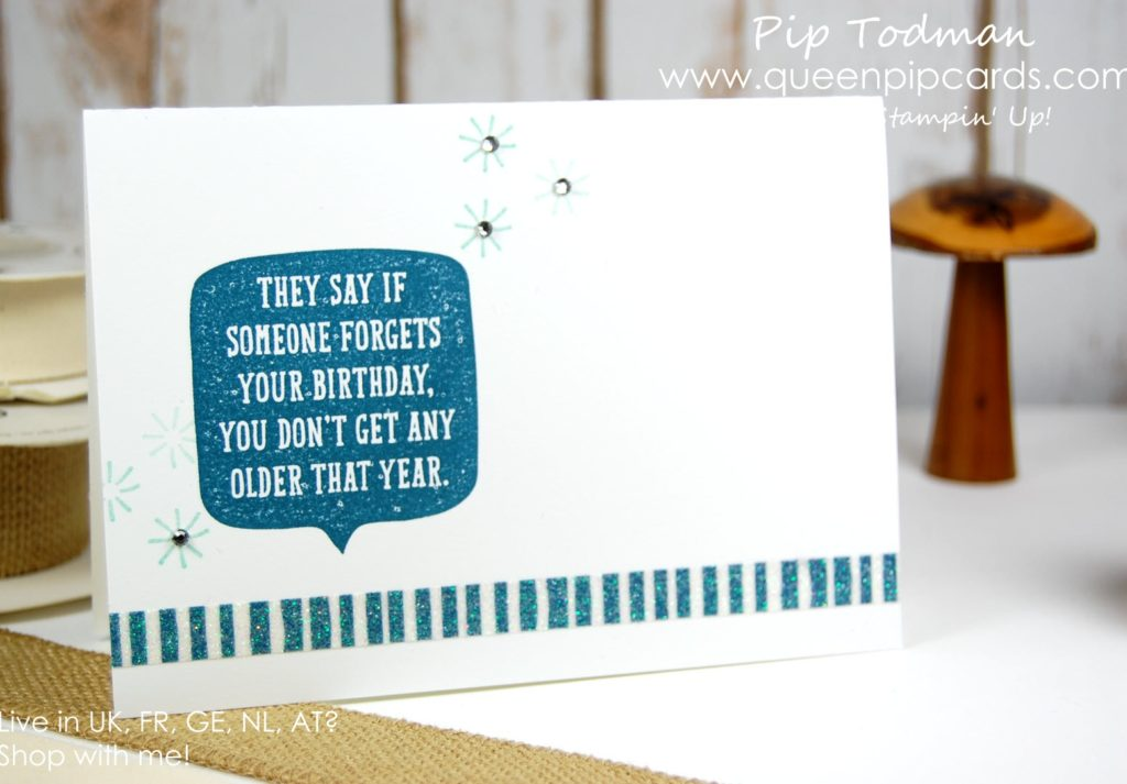 Birthday Wit Simple Stamping Spring / Summer 2018 Pip Todman Crafty Coach & Stampin' Up! Top UK Demonstrator Queen Pip Cards www.queenpipcards.com Facebook: fb.me/QueenPipCards #queenpipcards #stampinup #papercraft #inspiringyourcreativity