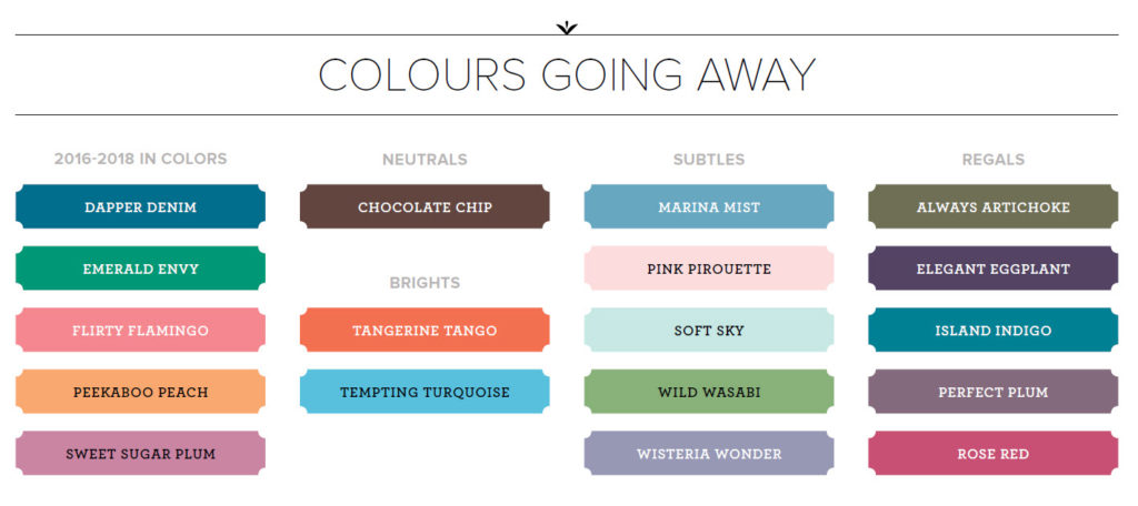 What Is Leaving Stampin' Up! - Colours