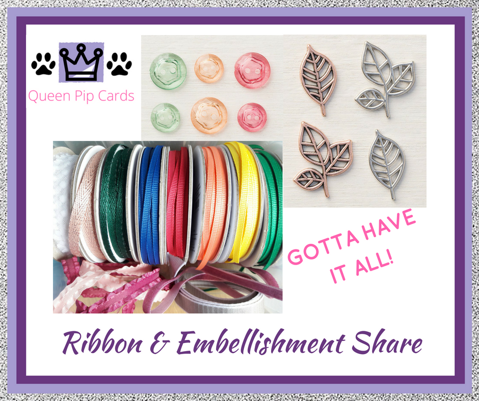 Ribbon and Embellishment Shares! Sign up now and get all the ribbons and individual embellishments that are NEW in the 2018 Stampin' Up! catalogue! Pip Todman Crafty Coach & Stampin' Up! Top UK Demonstrator Queen Pip Cards www.queenpipcards.com Facebook: fb.me/QueenPipCards #queenpipcards #inspiringyourcreativity #stampinup #papercraft