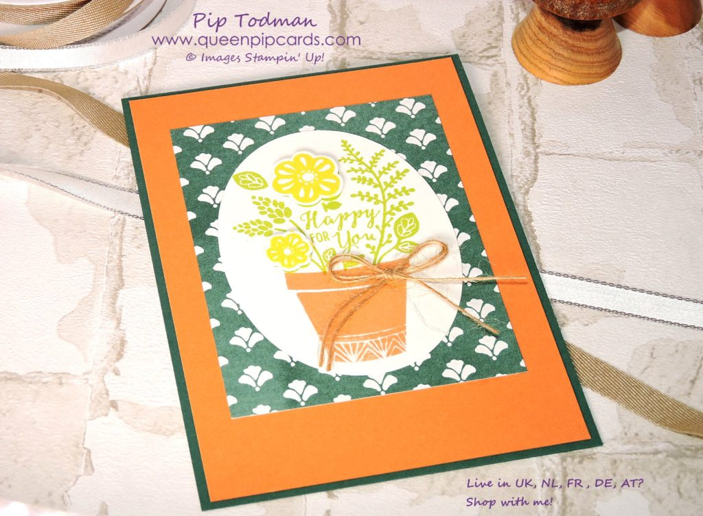 Grown with Love is easy to stamp with the Stamparatus. Use a Template to easily stamp the plant pot in this card.  Purchase the Stamparatus from 1st June in my online store here: http://bit.ly/QPCShop  Pip Todman Crafty Coach & Stampin' Up! Top UK Demonstrator Queen Pip Cards www.queenpipcards.com Facebook: fb.me/QueenPipCards  #queenpipcards #inspiringyourcreativity #stampinup #papercraft