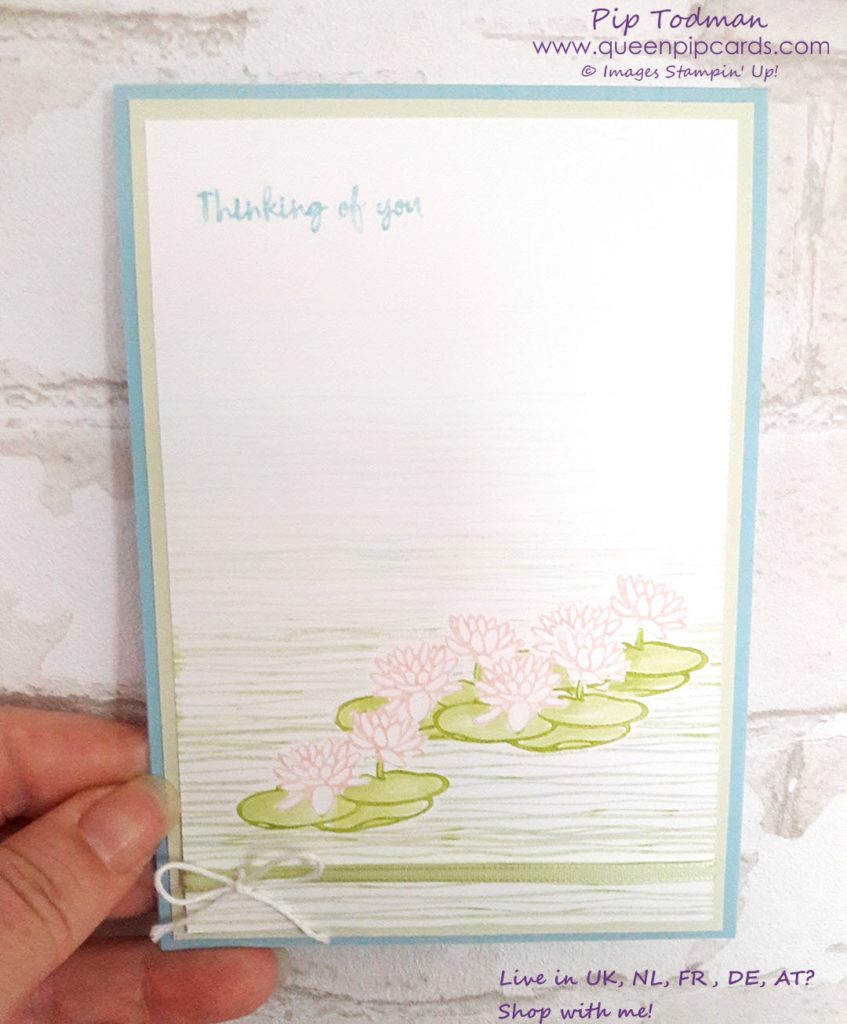 Hello New Colours with Stampin' Creative Blog Hop! Join us as we hop around the new colours available 1st June by Stampin' Up! Today I'm showcasing Lilypad Lake and the masking technique! All products available from my online store (unless retired) here: http://bit.ly/QPCShop Pip Todman Crafty Coach & Stampin' Up! Top UK Demonstrator Queen Pip Cards www.queenpipcards.com Facebook: fb.me/QueenPipCards #queenpipcards #inspiringyourcreativity #stampinup #papercraft