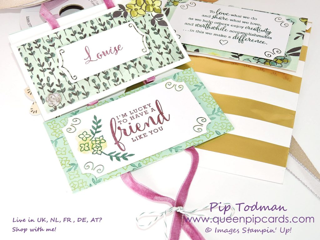 Alaska Achievers Share What You Love Home Decor project. Make a gift for a friend with these gorgeous products from Stampin' Up! Pip Todman Crafty Coach & Stampin' Up! Top UK Demonstrator Queen Pip Cards www.queenpipcards.com Facebook: fb.me/QueenPipCards #queenpipcards #inspiringyourcreativity #stampinup #papercraft