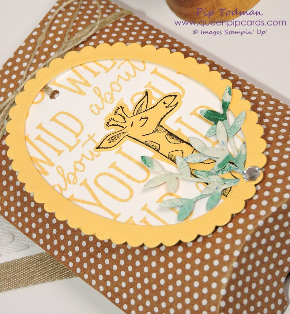 Summer Party Craft Ideas with the Stampin' Creative Blog Hop design team and Animal Outing! This is my Baby Shower gift idea using the adorable Giraffe from the bundle and the new Kraft Pillow boxes! Those spots are so cute!! All Stampin' Up! products available from my online store here: http://bit.ly/QPCShop Pip Todman Crafty Coach & Stampin' Up! Top UK Demonstrator Queen Pip Cards www.queenpipcards.com Facebook: fb.me/QueenPipCards #queenpipcards #SimplyStylish #inspiringyourcreativity #stampinup #papercraft