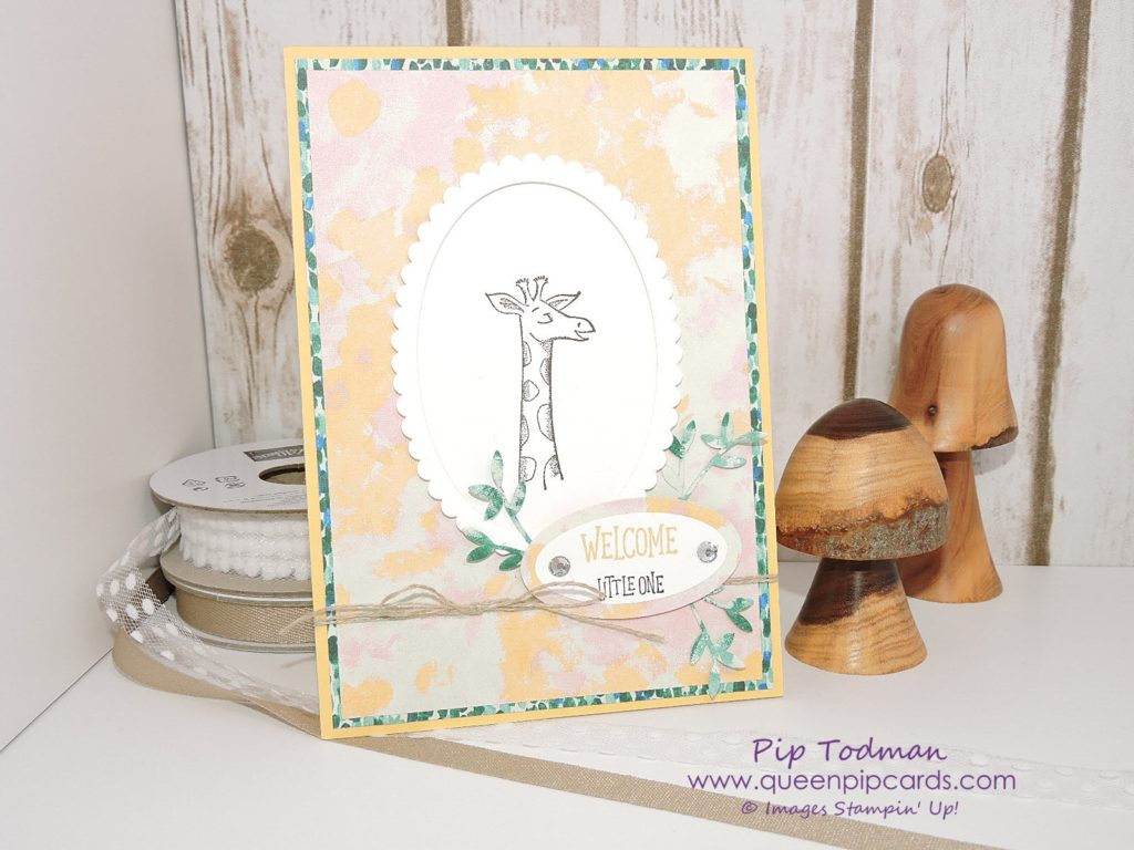 Summer Party Craft Ideas with the Stampin' Creative Blog Hop design team and Animal Outing! This is my Baby Shower card also featuring Garden Impressions DSP. All Stampin' Up! products available from my online store here: http://bit.ly/QPCShop Pip Todman Crafty Coach & Stampin' Up! Top UK Demonstrator Queen Pip Cards www.queenpipcards.com Facebook: fb.me/QueenPipCards #queenpipcards #SimplyStylish #inspiringyourcreativity #stampinup #papercraft