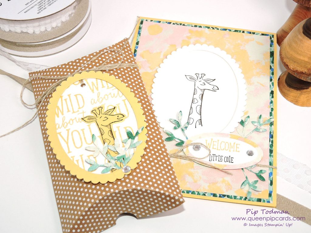 Summer Party Craft Ideas with the Stampin' Creative Blog Hop design team and Animal Outing! This is my Baby Shower gift and card idea using the adorable Giraffe from the bundle. All Stampin' Up! products available from my online store here: http://bit.ly/QPCShop Pip Todman Crafty Coach & Stampin' Up! Top UK Demonstrator Queen Pip Cards www.queenpipcards.com Facebook: fb.me/QueenPipCards #queenpipcards #SimplyStylish #inspiringyourcreativity #stampinup #papercraft